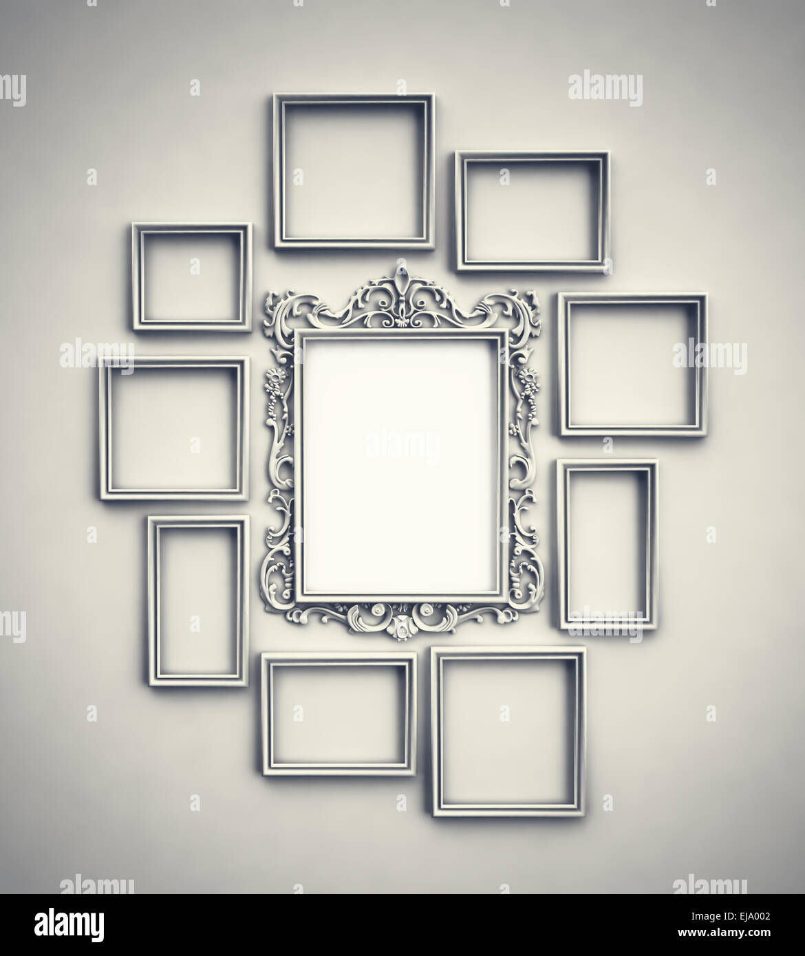 Photo Frames Wall Stockfotos & Photo Frames Wall Bilder - Alamy