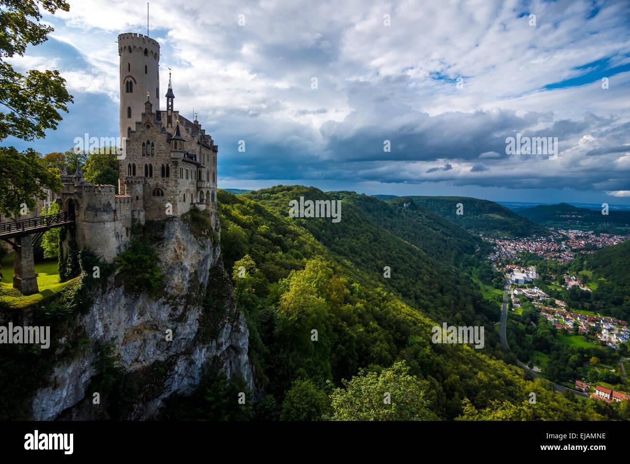 Schloss Lichtenstein - Baden-Württemberg - Deutschland Stockbild
