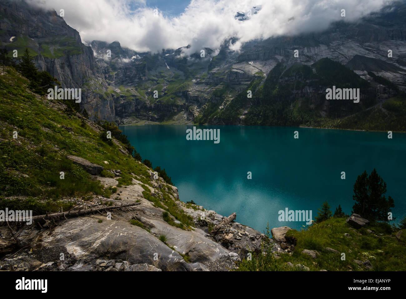 Oeschinensee - Schweizer Alpen - Schweiz Stockbild