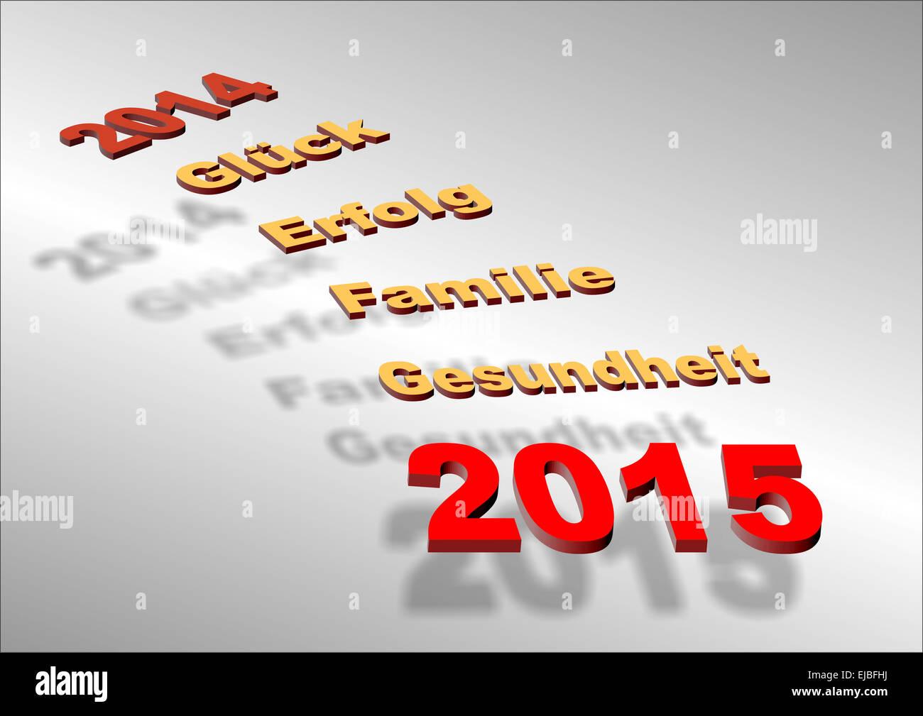 gute Wünsche für neue Jahr 2015 Stockfoto, Bild: 80159006 - Alamy