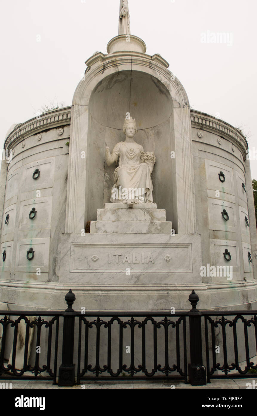 Saint Louis Friedhof Nummer 1 New Orleans katholischen Easy Rider Statue Friedhof Voodoo Stockbild