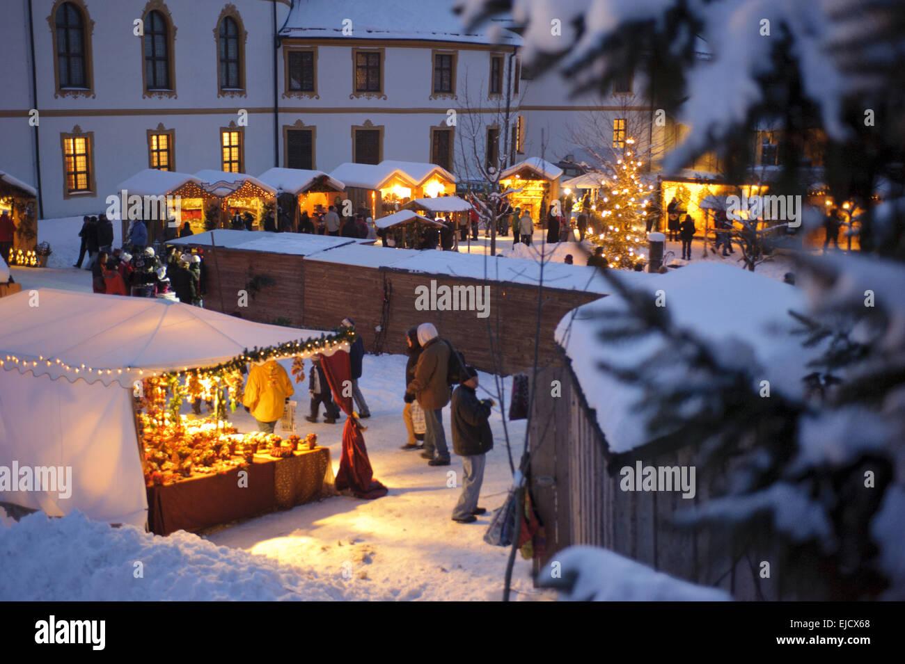 Weihnachtsmarkt in Bayern, Deutschland Stockbild
