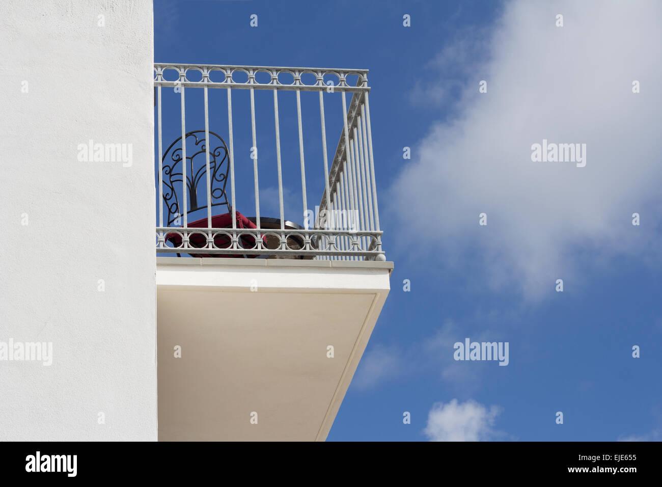 Balkon. Stockbild