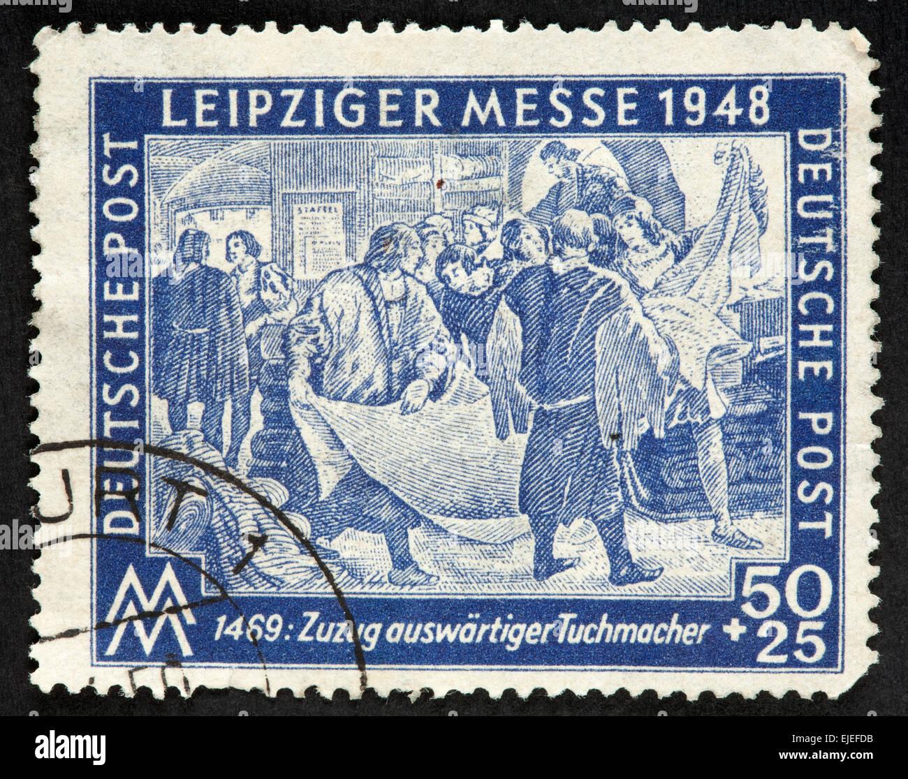 Deutsche Briefmarke Stockfoto Bild 80224743 Alamy