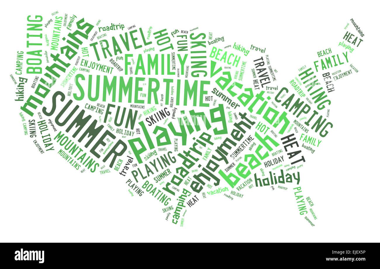 Summer Word Cloud Stockfotos & Summer Word Cloud Bilder - Alamy