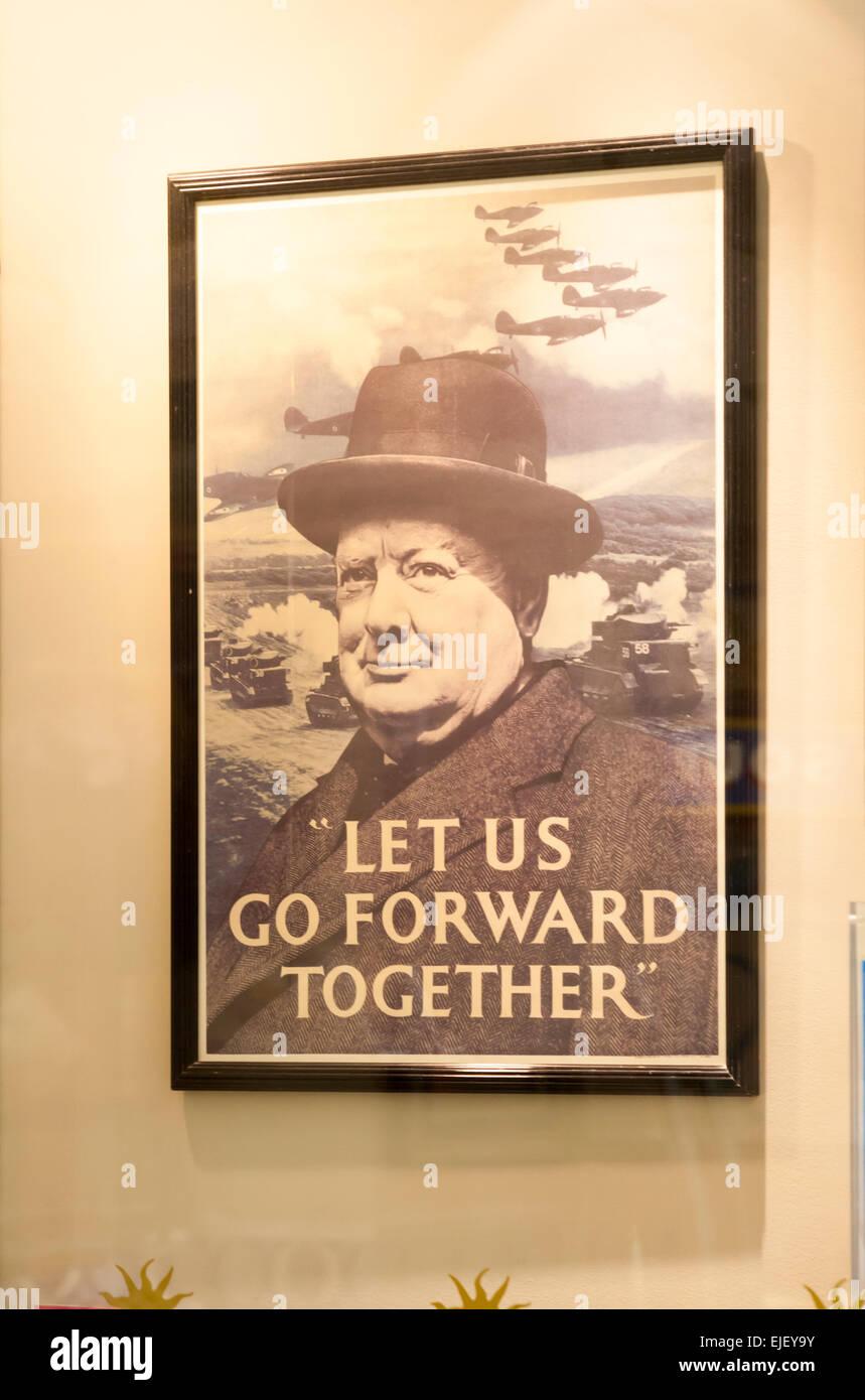 Lassen Sie uns gemeinsam vorwärts gehen - gerahmte Poster an Wand ...