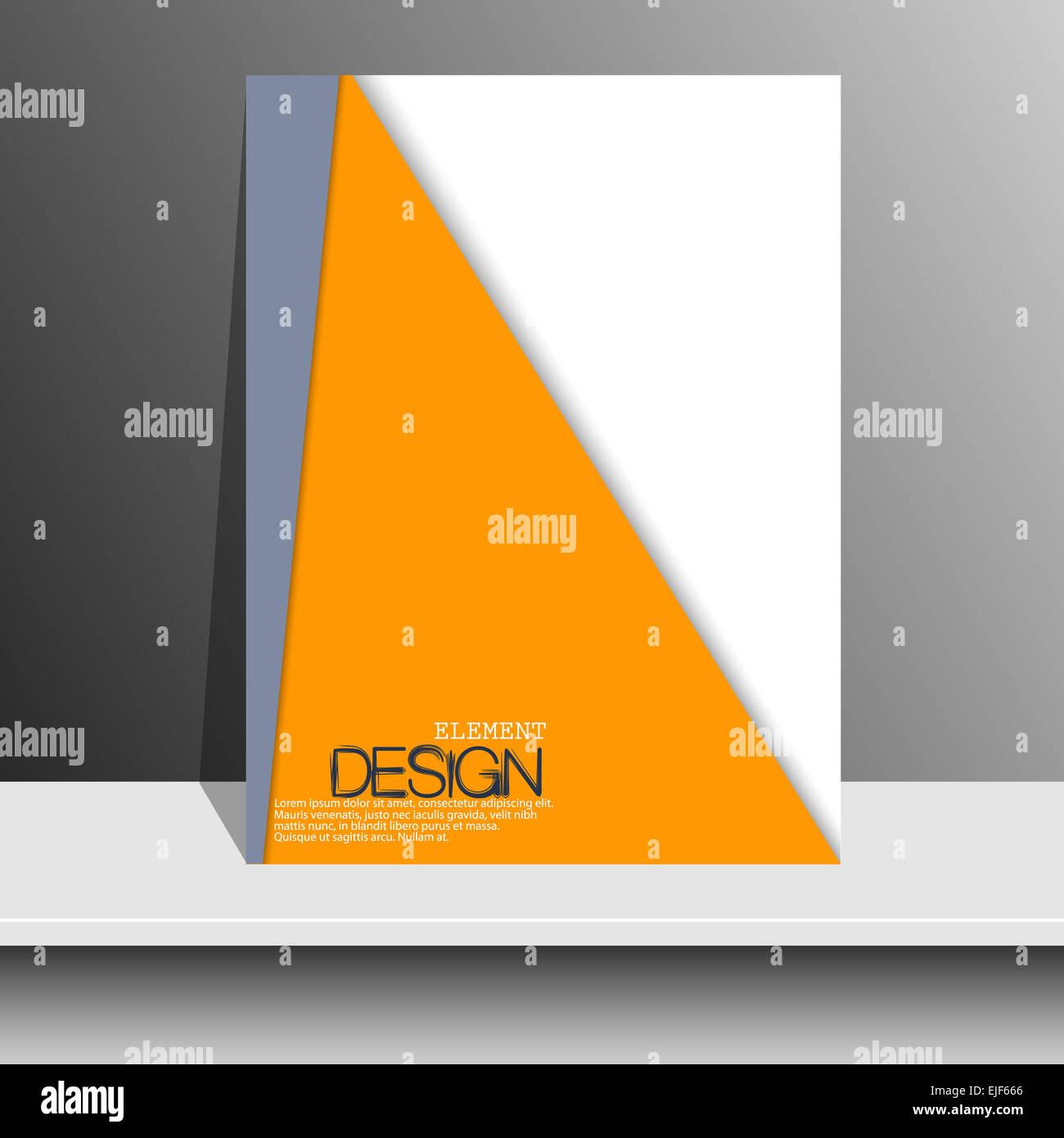 Magazin-Cover mit geschwungenen Linien, gestrichelte Linien und ...