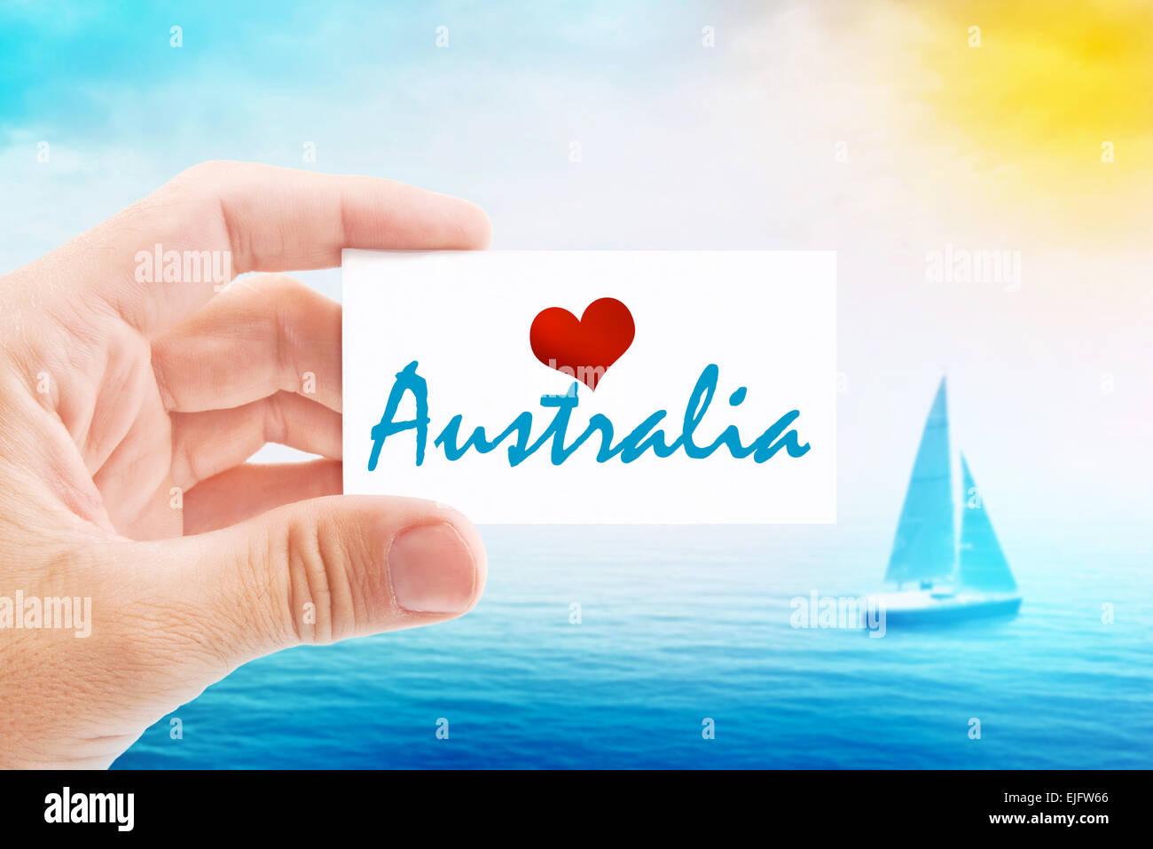 Sommerurlaub Am Strand Von Australien Inhaber Visitenkarte
