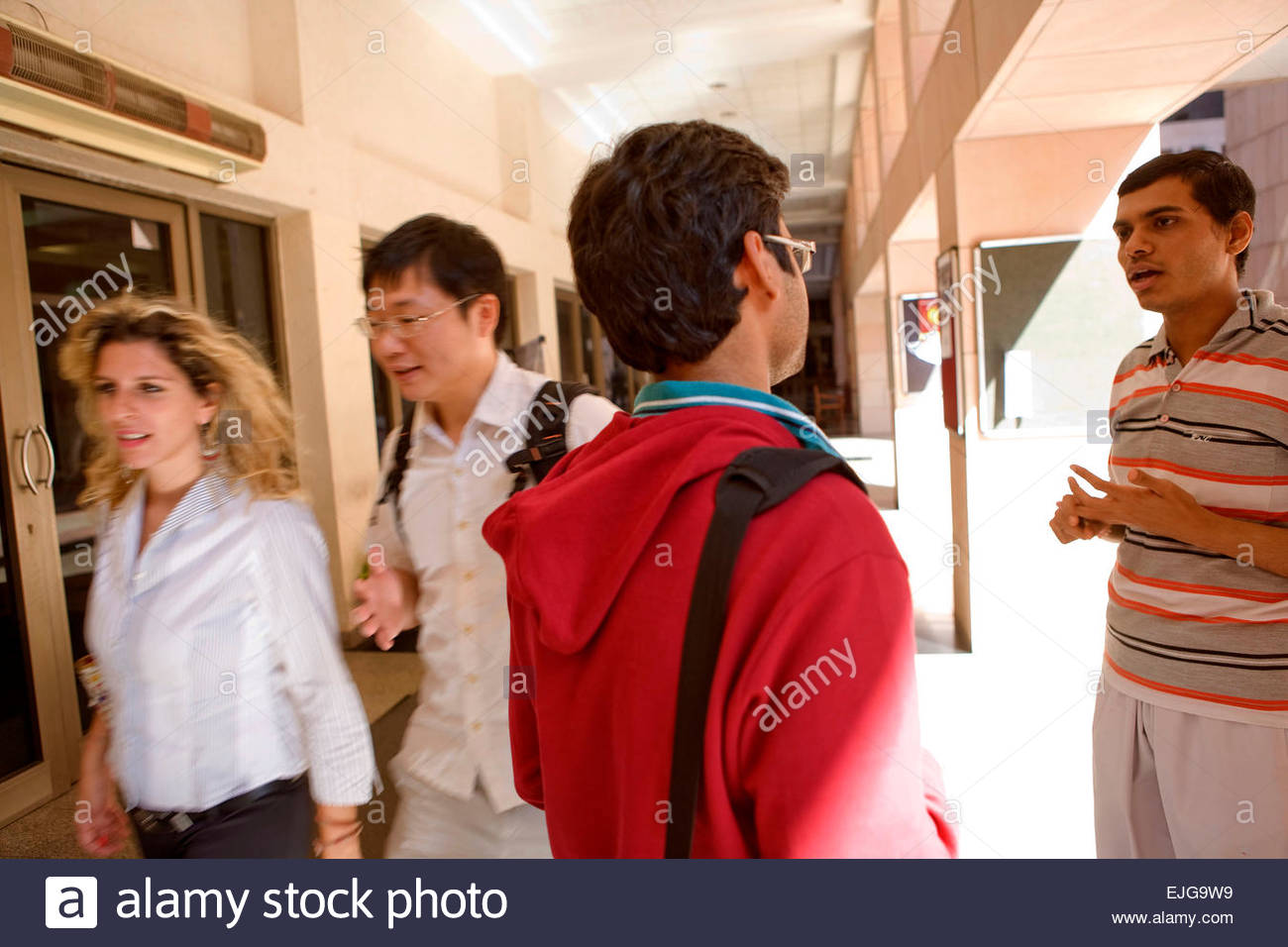 Hyderabad, Hightech-Stadt, Indian School of Business, Indien, Chinesisch und weißen Studenten. Stockbild