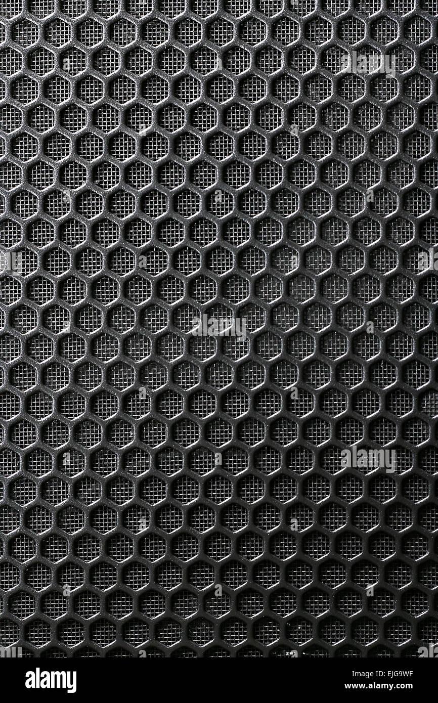 Black Iron Grill und das Substrat aus dem Netz als Hintergrund Stockbild