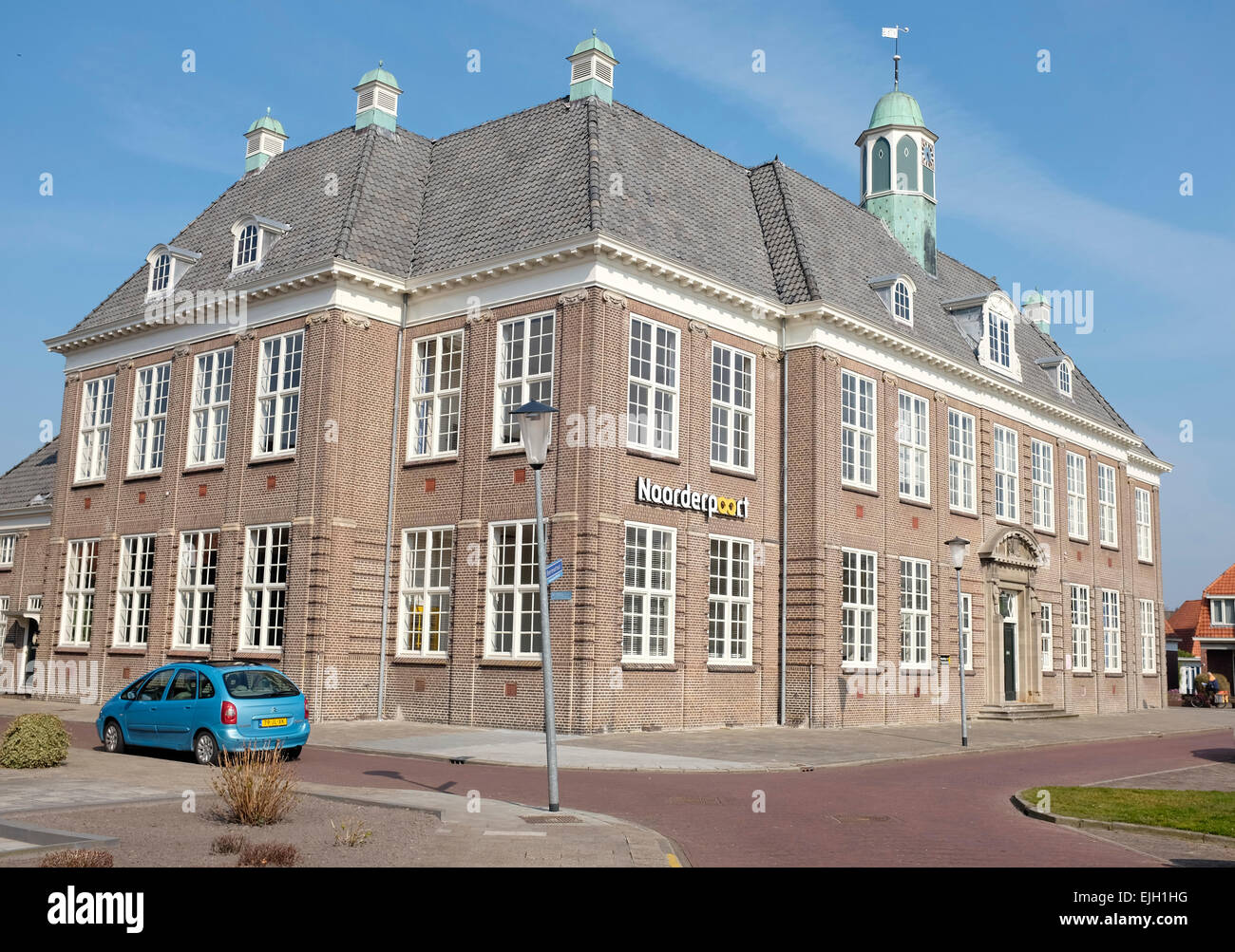 Veendam Noorderpoort College in den Niederlanden Stockbild