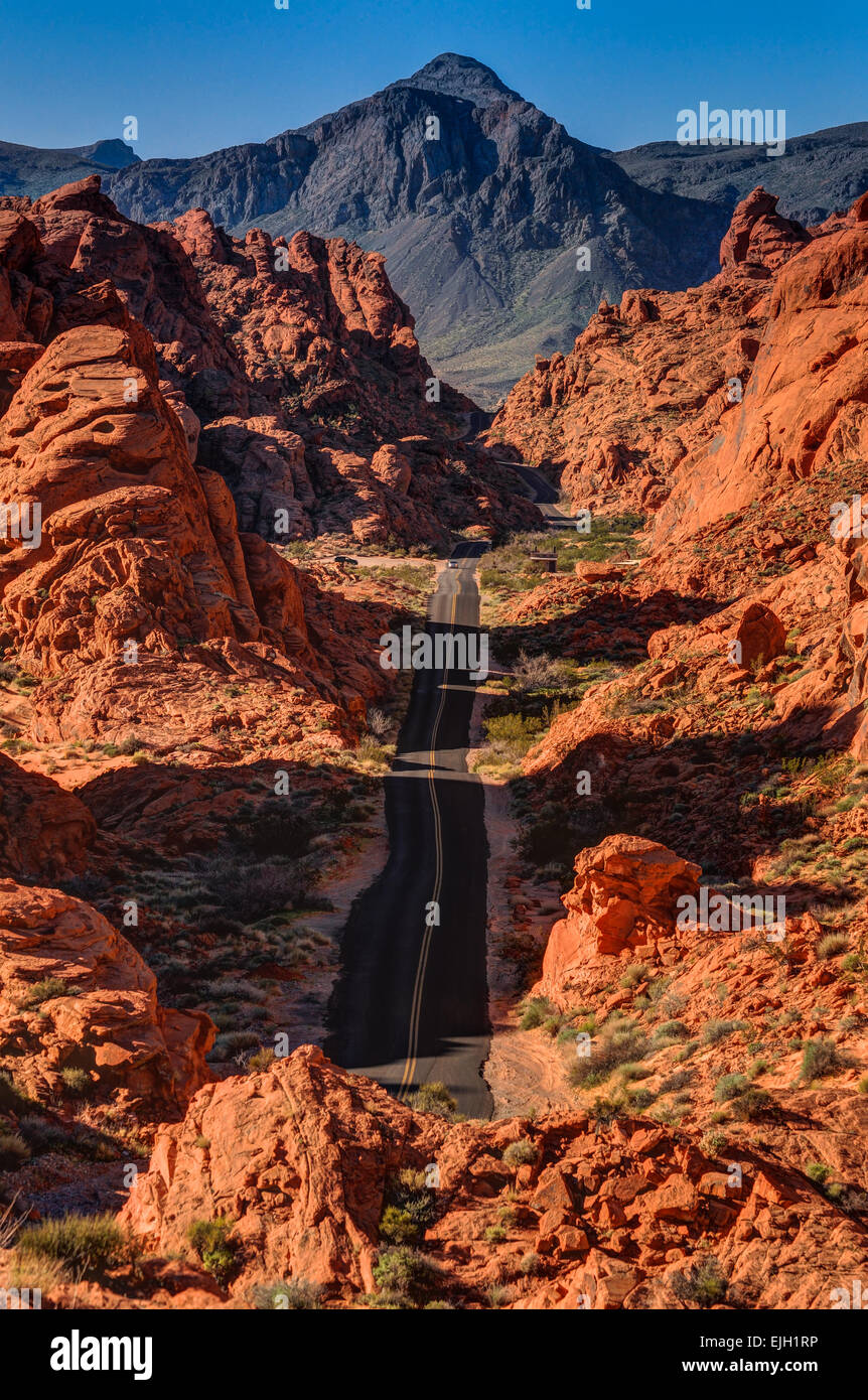 Mouse Tank Road Valley Of Fire Nevada Stockfoto Bild 80279914