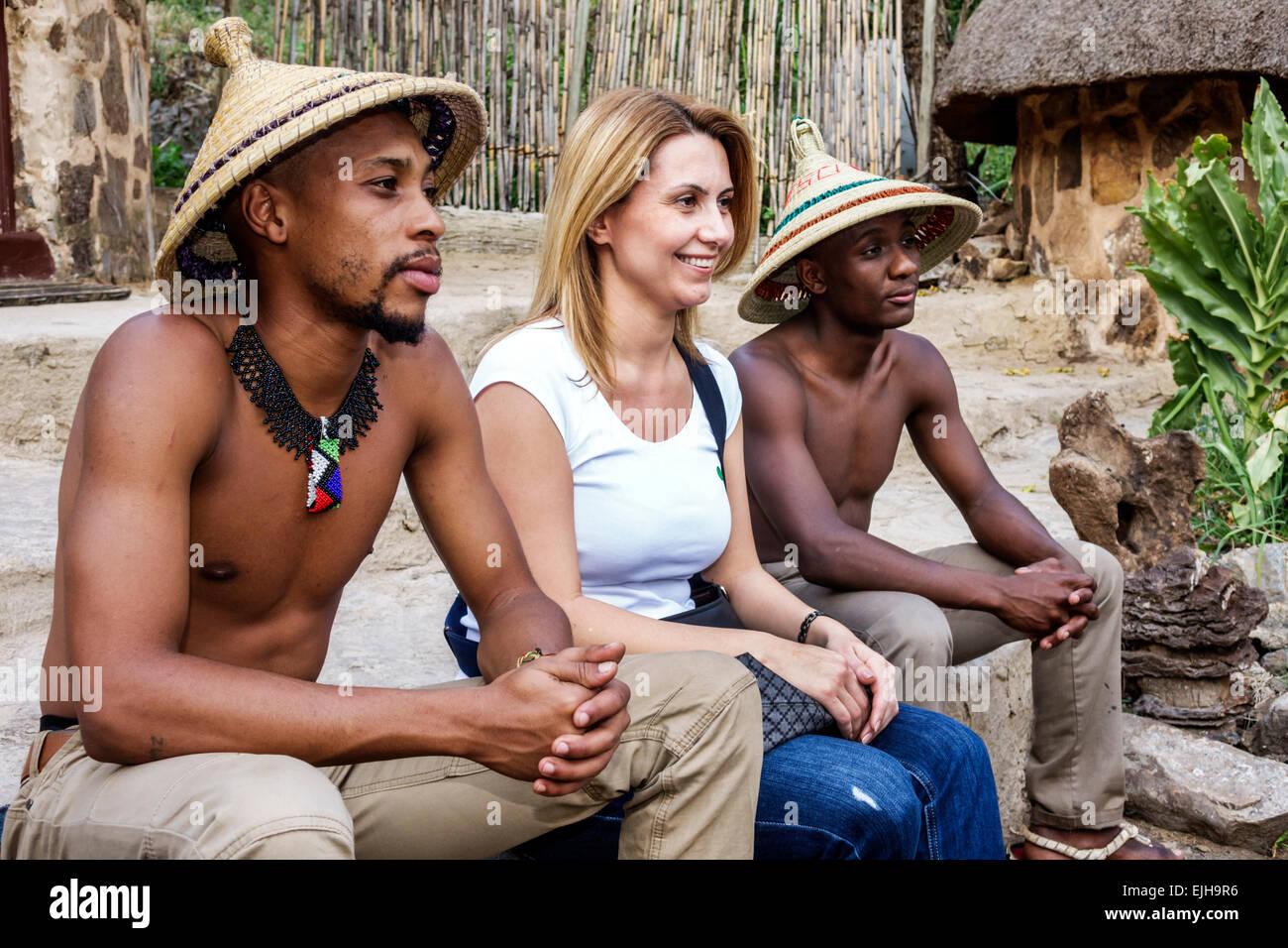 Johannesburg South Africa African Lesedi African Lodge & kulturelle Dorf Basotho Stamm native ...