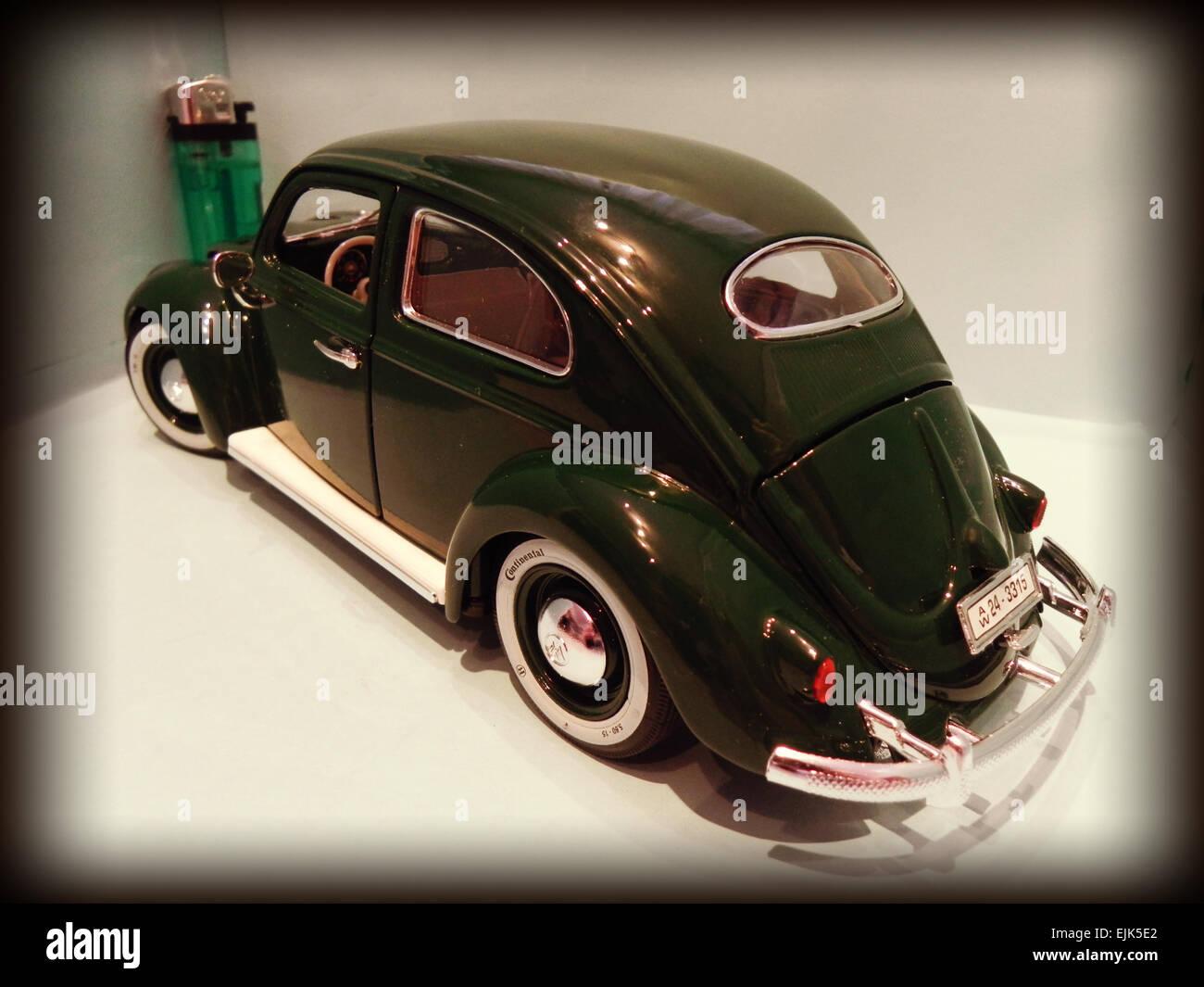 Mein Miniatur Eines Alten Vw Käfer Mythische Auto Produziert In