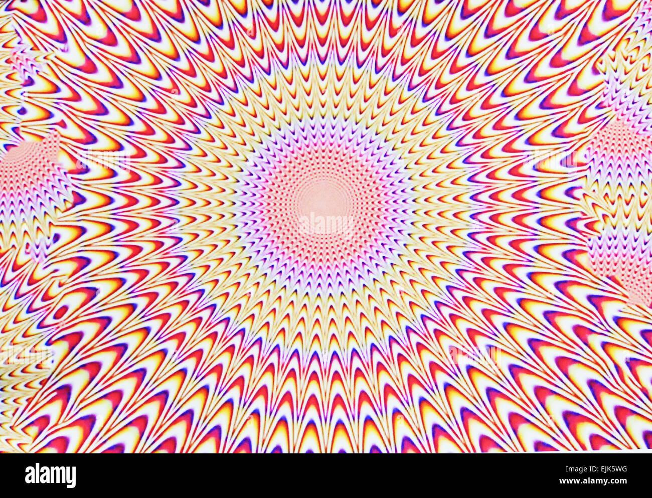 Digitalen abstraktes bild mit einer explosion von blau rot for Lila und grun kombinieren