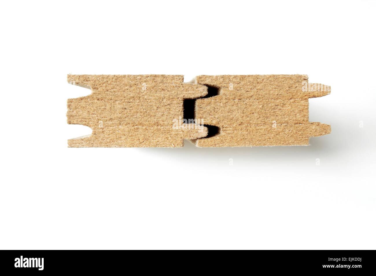 Holzfaser-Dämmplatten Stockbild