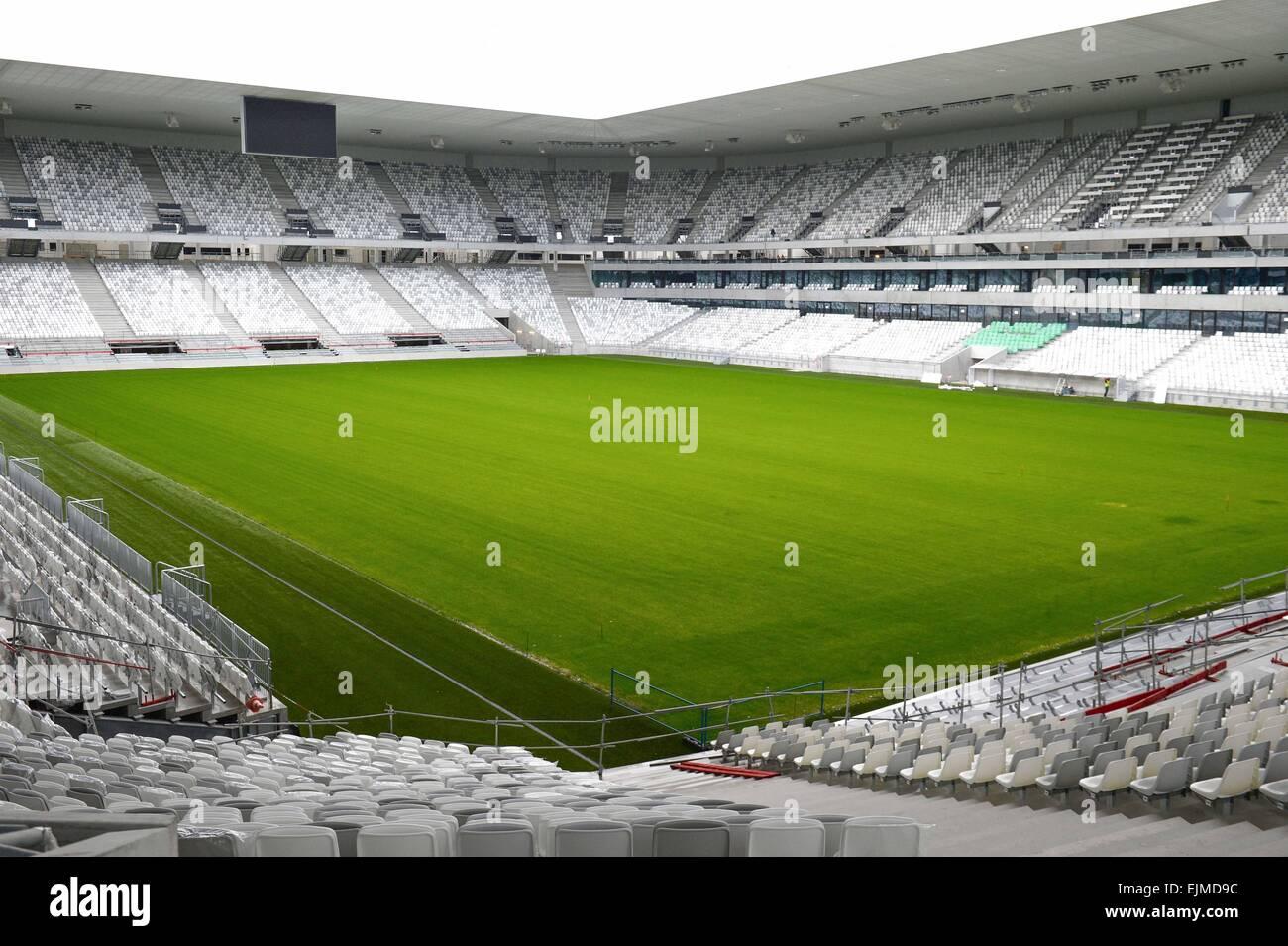Vue Interieur Nouveau Stade de Bordeaux - 23.03.2015 - Visite du Stade de Bordeaux-. Foto: Caroline Blumberg / Icon Stockbild