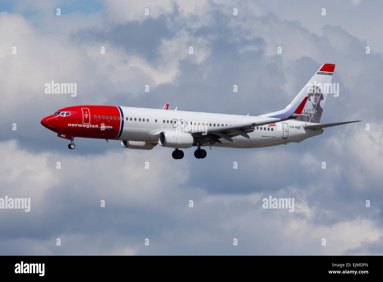 Norwegian Air Shuttle Boeing 737 Stockbild