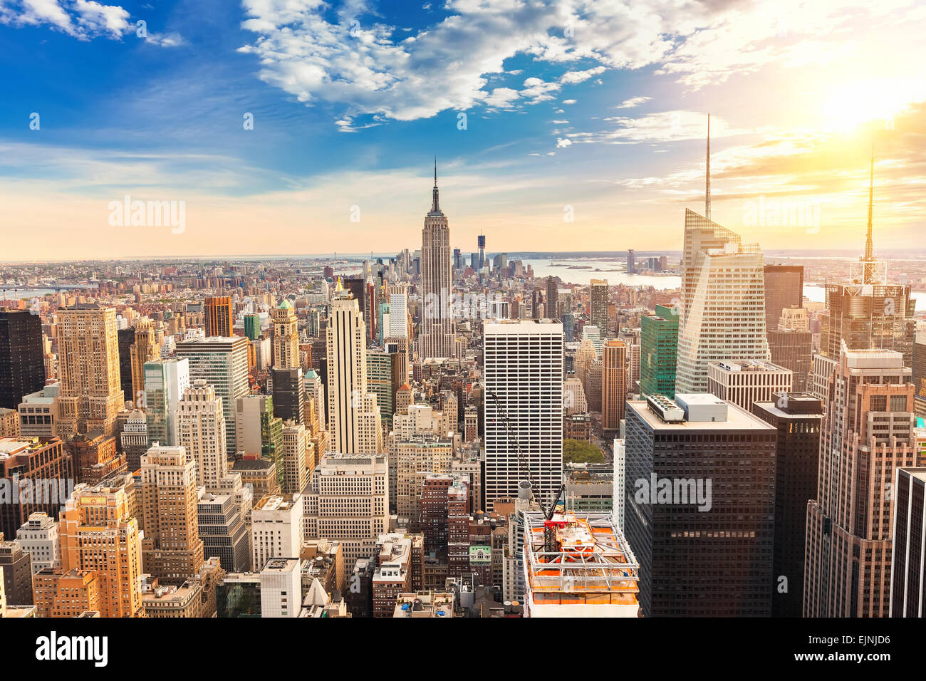 Manhattan Luftbild Stockbild