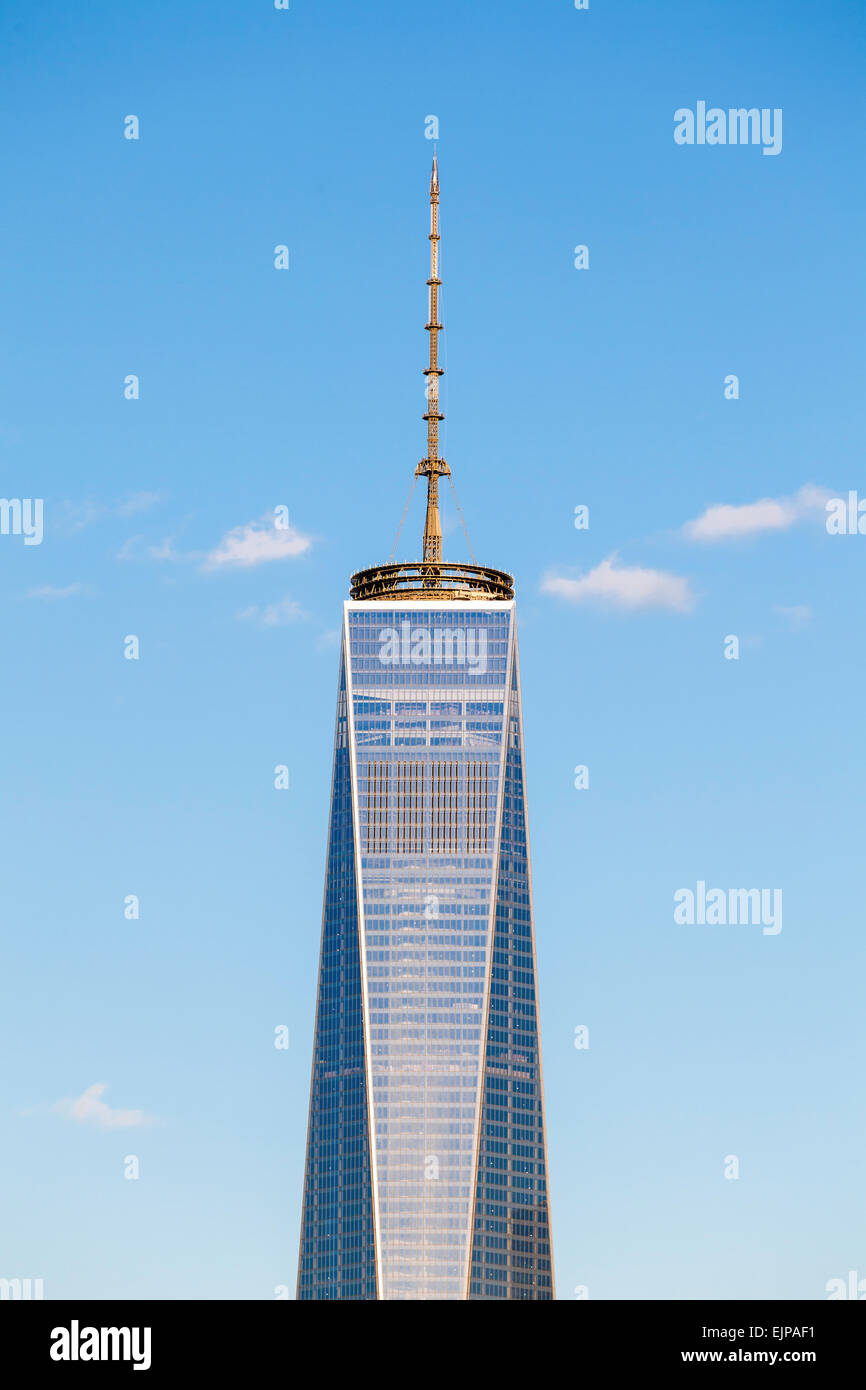 One World Trade Center, New York, Manhattan, Vereinigte Staaten von Amerika Stockbild