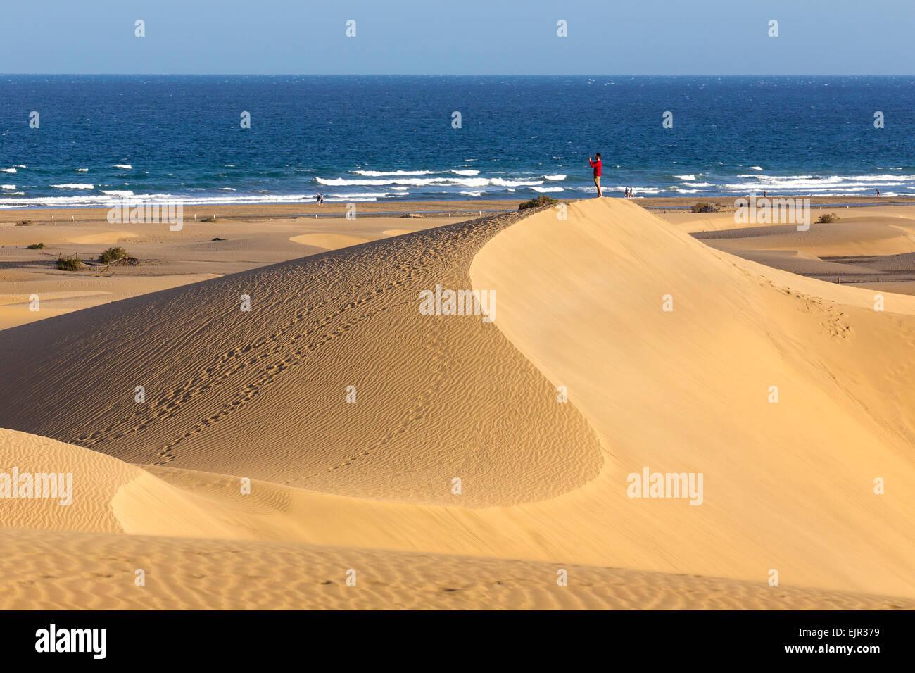 Düne-Strand von Maspalomas, Gran Canaria, Kanarische Inseln, SpanienStockfoto