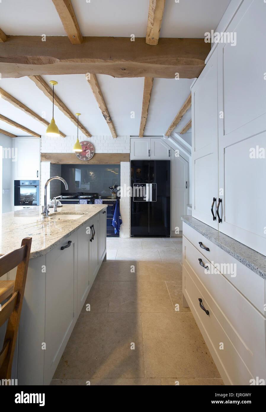 Contemporary Kitchen Aga Cooker Stockfotos & Contemporary Kitchen ...