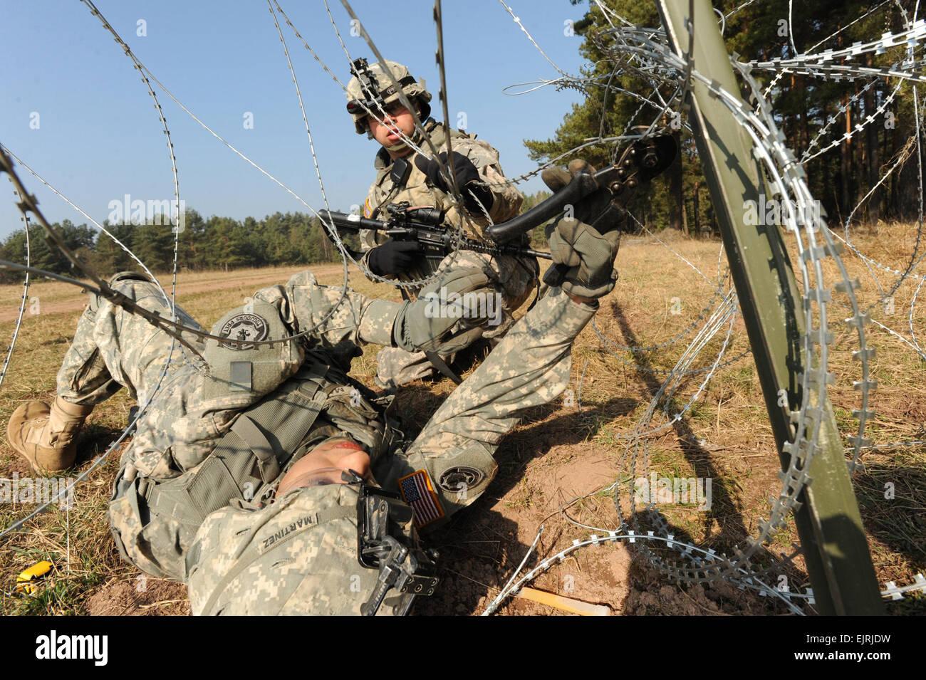 Zwei Soldaten der US Army aus ich Unternehmen, 3. Staffel, 2 ...