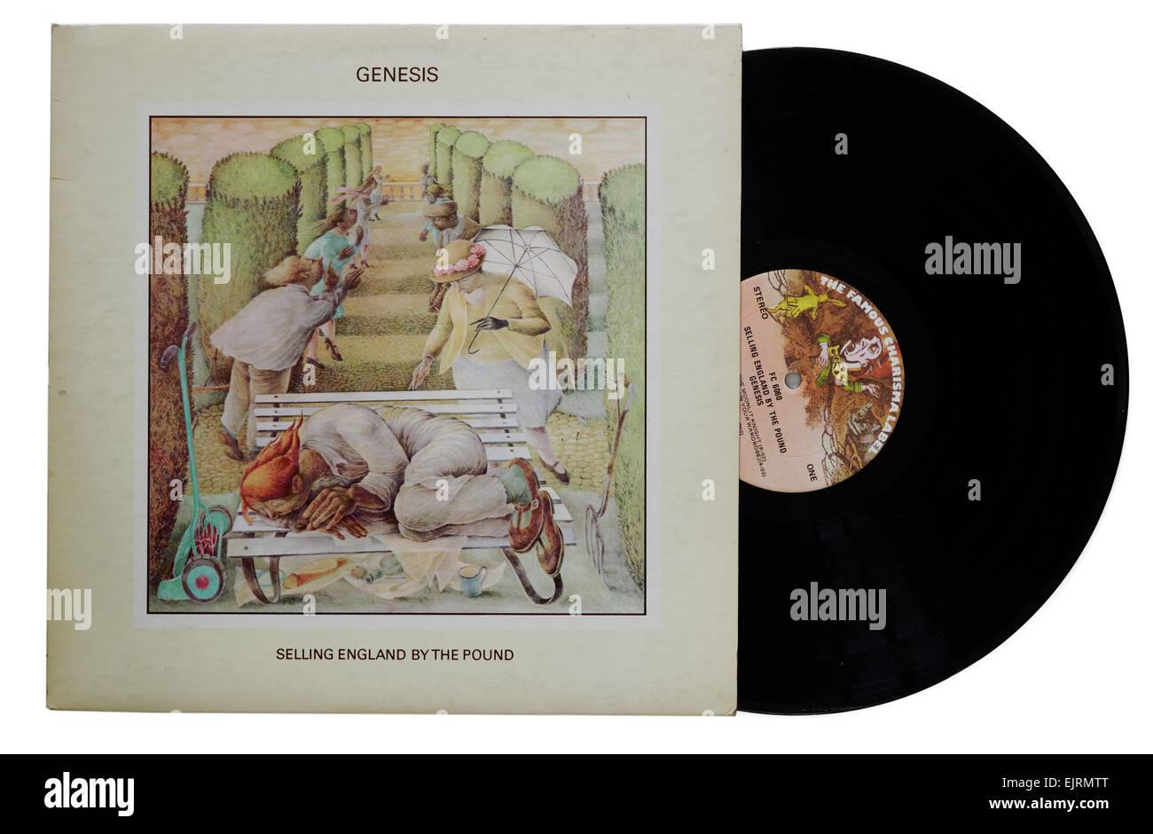 Genesis Selling England durch das Pfund-album Stockbild