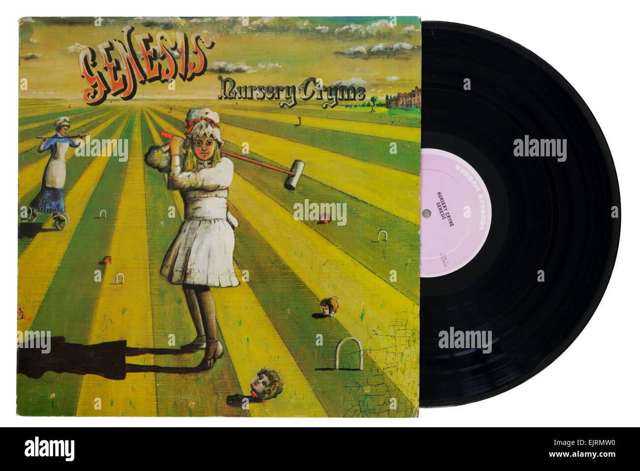 Genesis Nursery Cryme album Stockbild