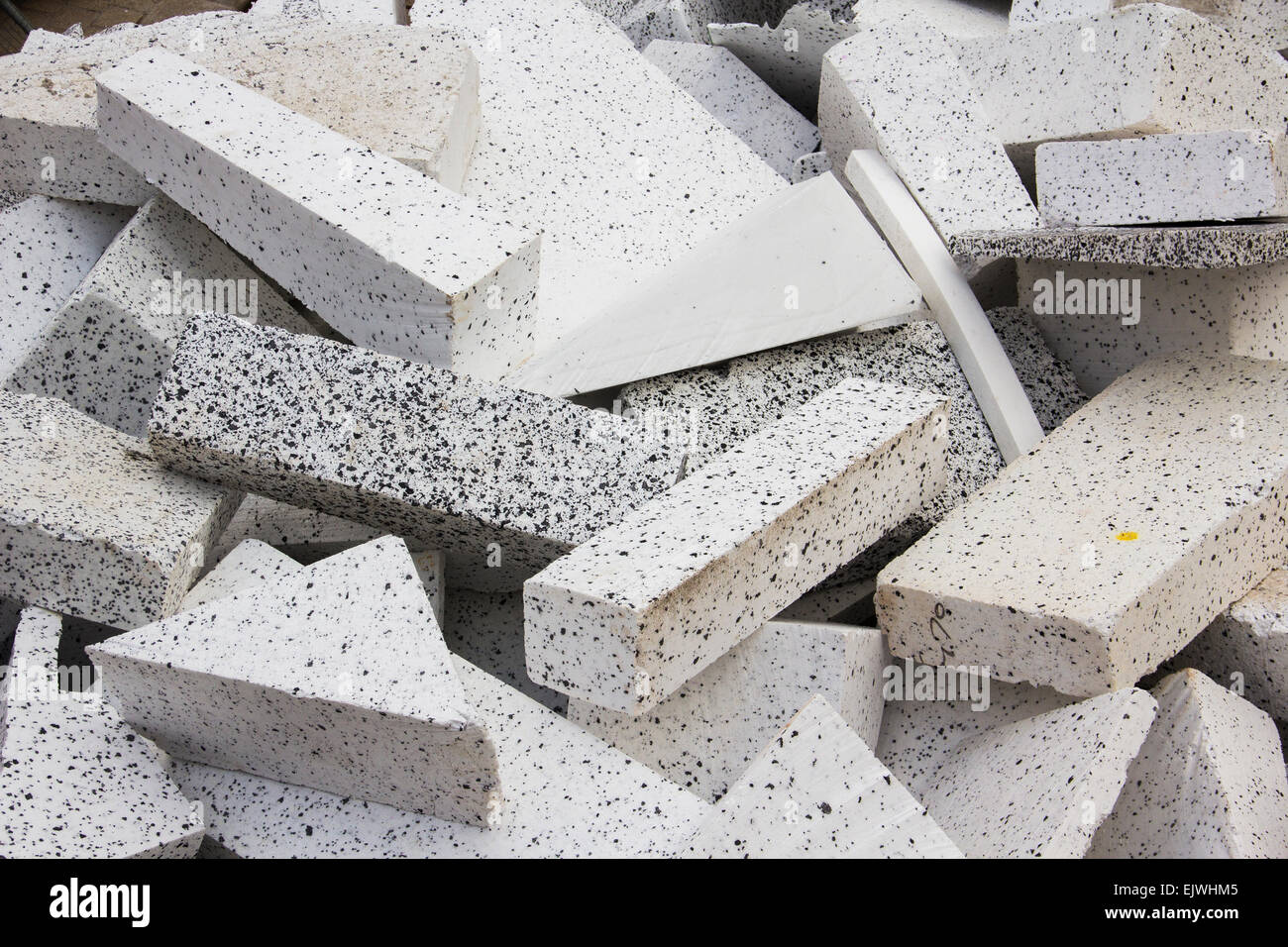 Geofoam erweitert Polystyrol Blöcke als Füllmaterial in den Bau des abgestuften Plaza in Stockport Stadtzentrum Stockbild