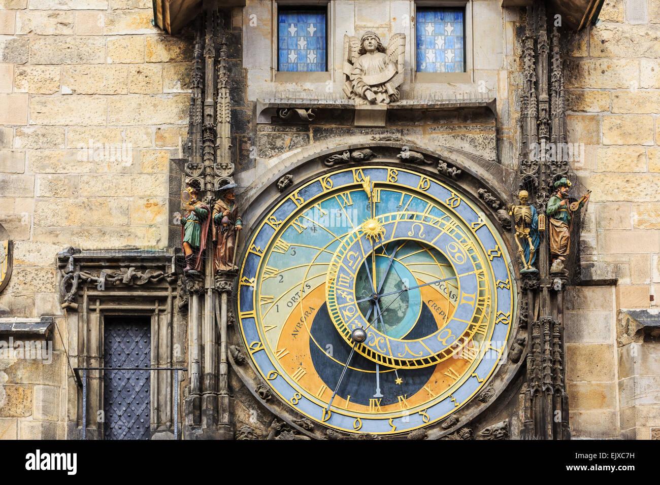 Astronomische Uhr in Prag. Tschechische Republik Stockbild