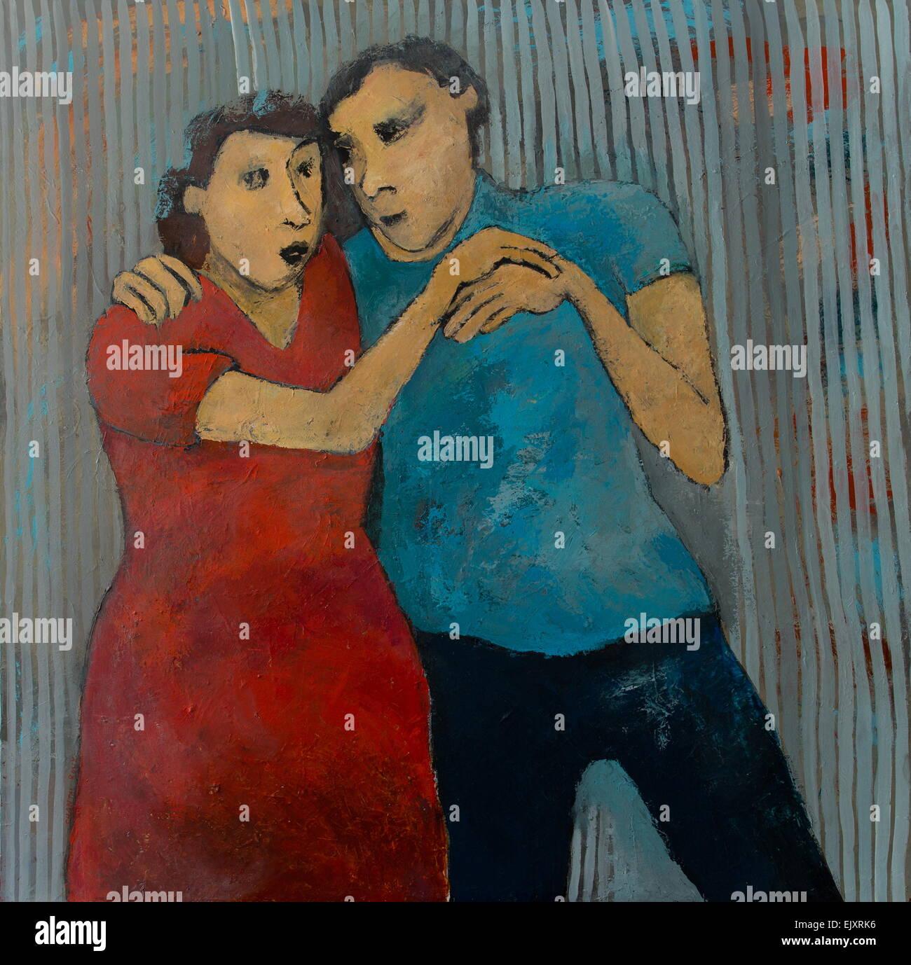 ActiveMuseum_0004632.jpg / immer näher 26.06.2014 - verkauft / 21. Jahrhundert Chantal Roux / aktive Museum Stockbild