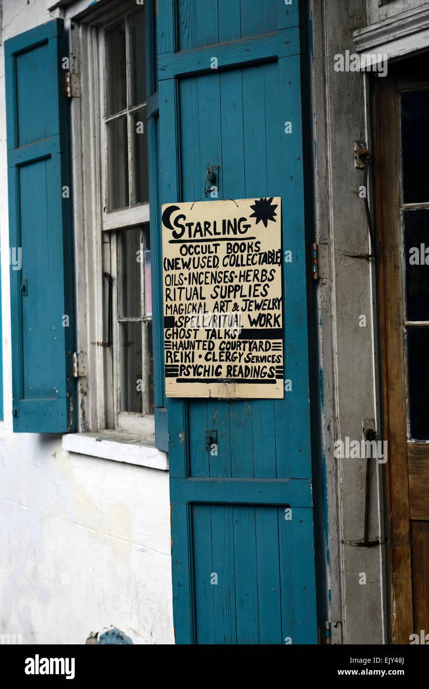 Starling okkulten Bücher Buchhandlung Magie magische Angebot Französisches Viertel New Orleans RM USA Stockbild