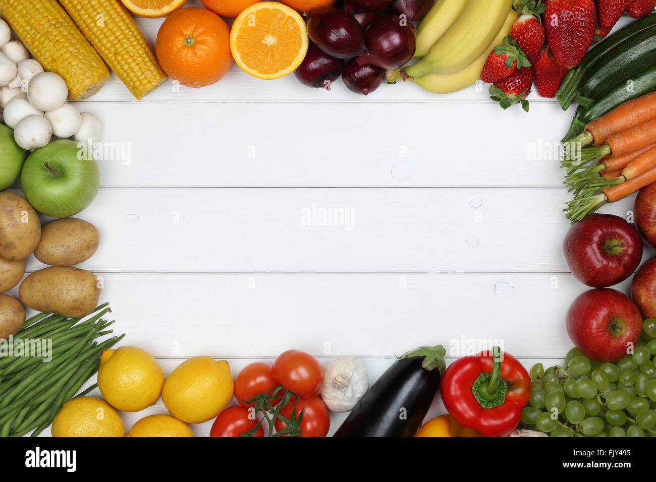 gesunde vegetarische und vegane essen rahmen aus gem se. Black Bedroom Furniture Sets. Home Design Ideas