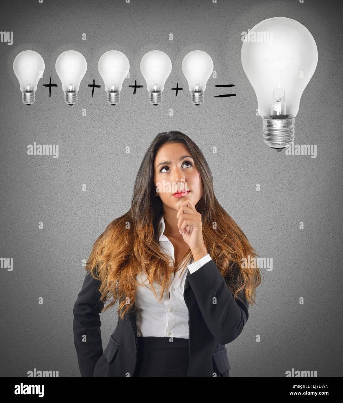 Summe verschiedener Ideen Stockbild