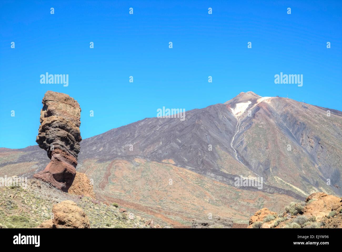 Teneriffa, den Teide Vulkan Stockbild