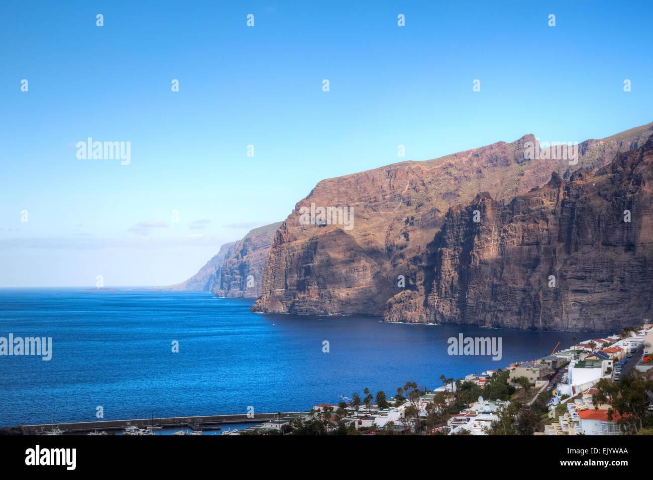 Teneriffa, Santiago del Teide, Los Gigantes Stockbild