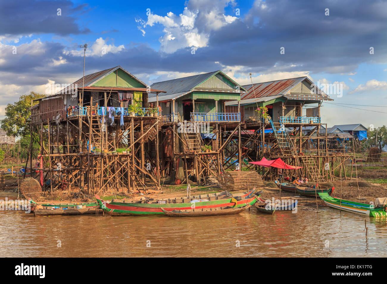 Kampong Phulk schwimmenden Dorf Stockbild
