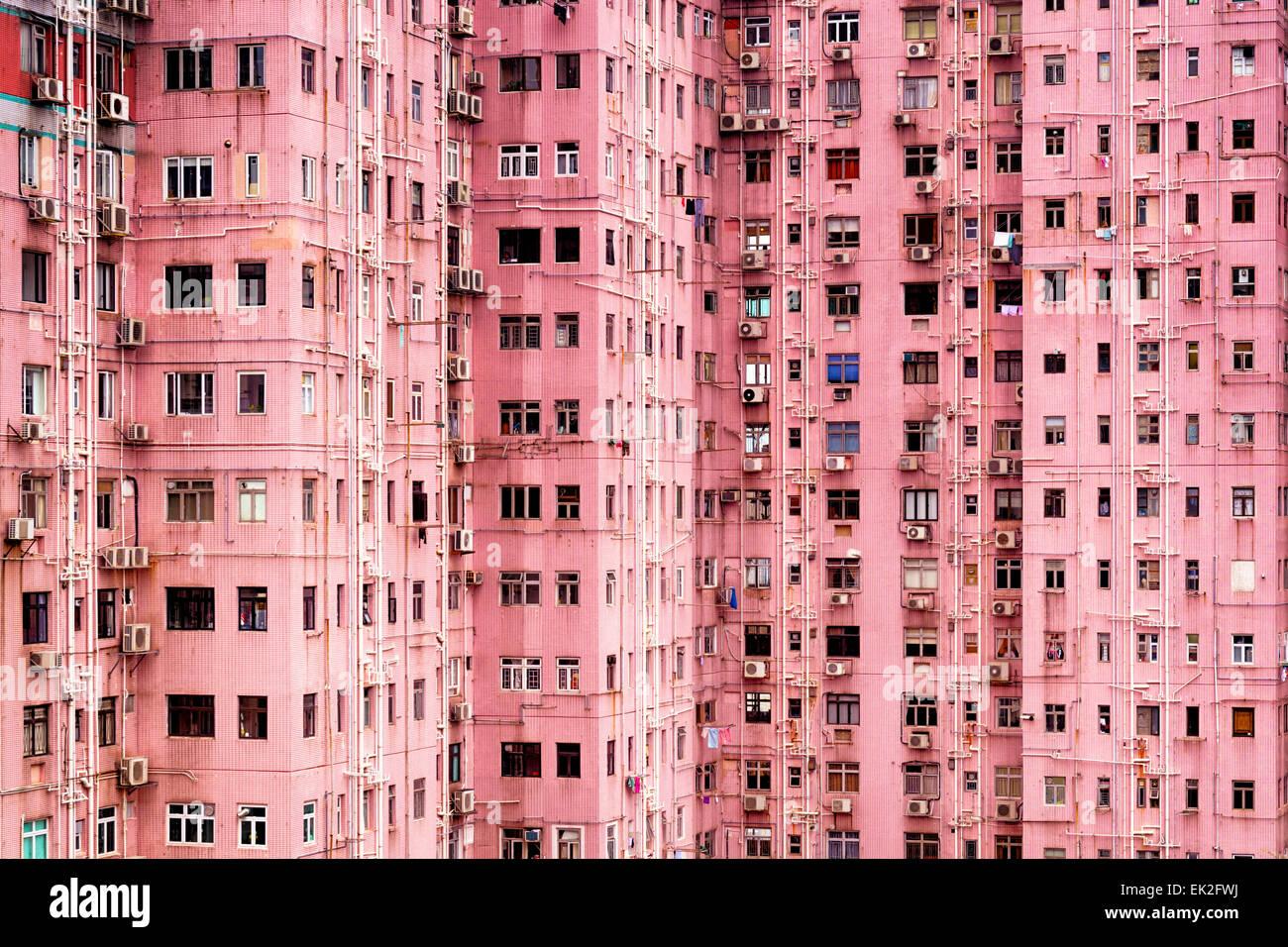 mehrfamilienhaus in hong kong stockbild