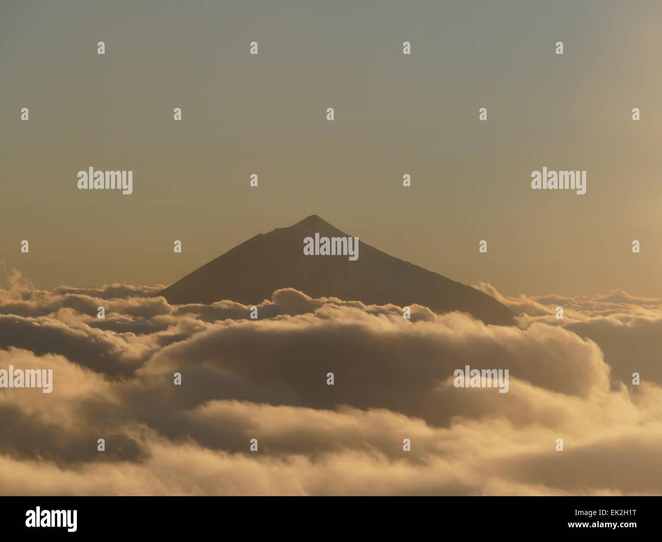 Der Teide von Teneriffa Insel Kanaren Spanien Stockbild
