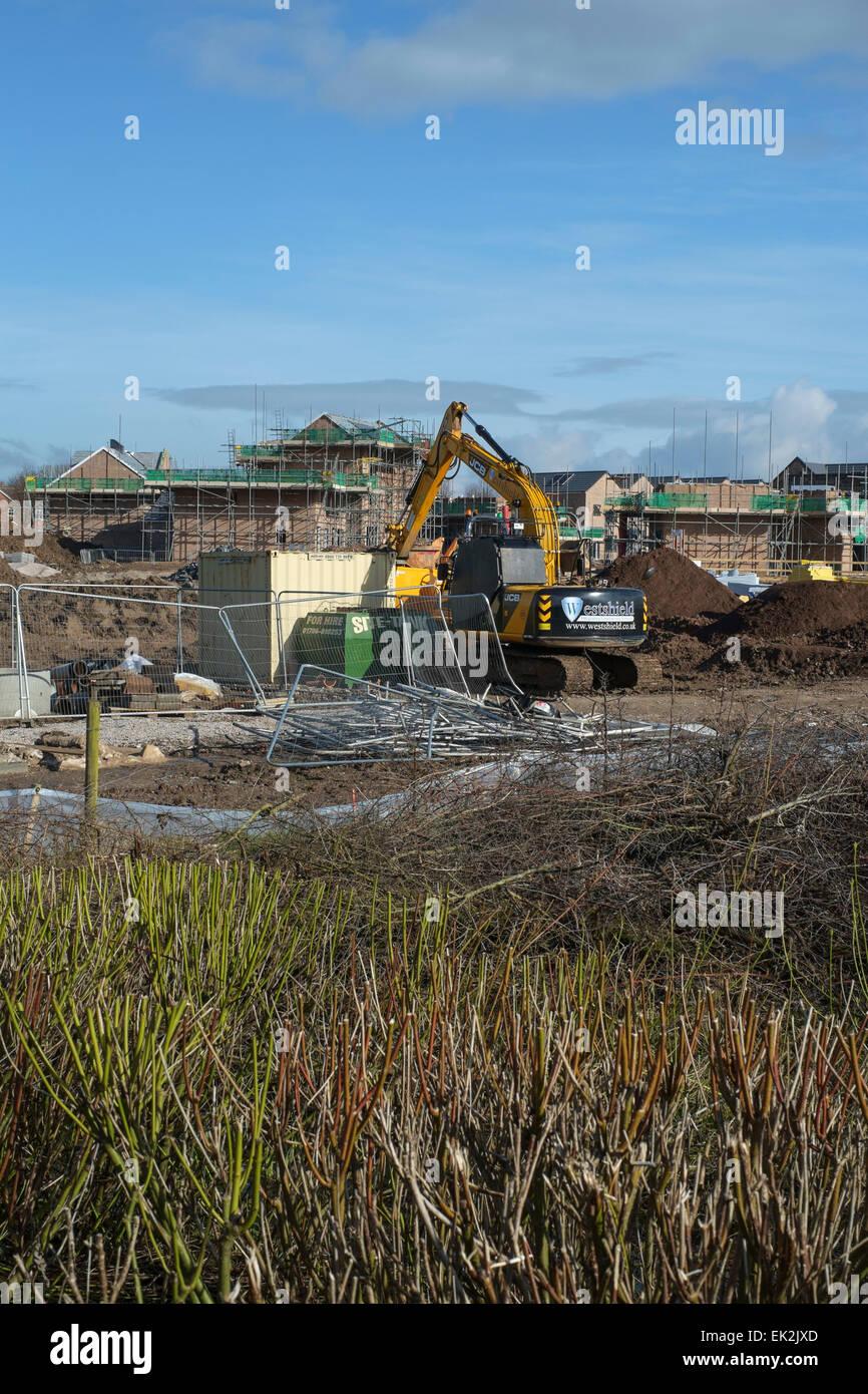 Preston Lancashire: Wohnungsbau Site Stockbild