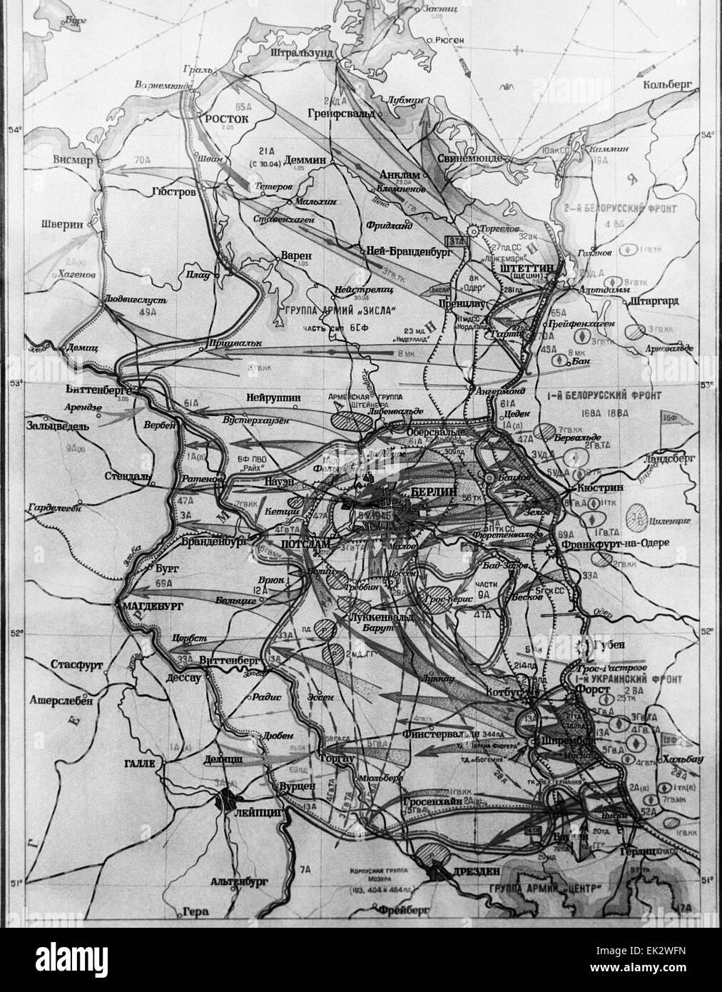 schlacht um berlin karte Deutschland. Die Karte der Schlacht um Berlin Operation  schlacht um berlin karte