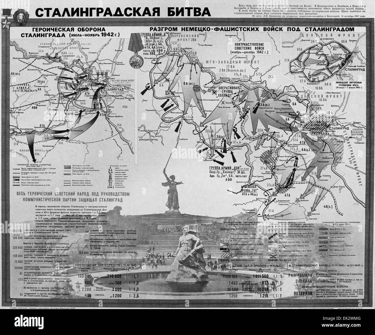 Stalingrad Karte Europa.Karte Der Schlacht Von Stalingrad Stockfotos Karte Der Schlacht