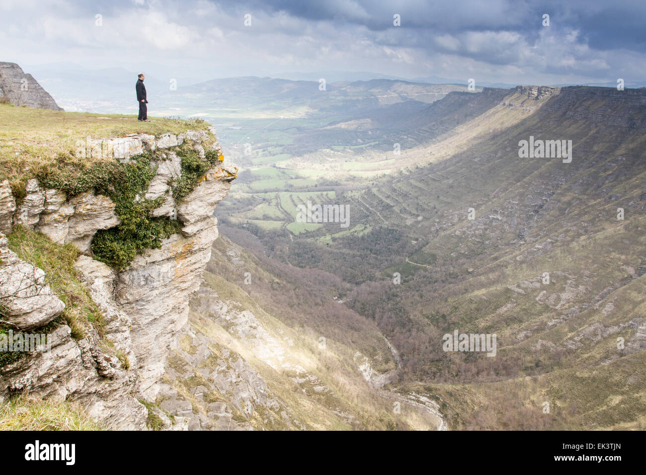 Nervion Canyon im Delika, Araba, Baskenland Stockfoto