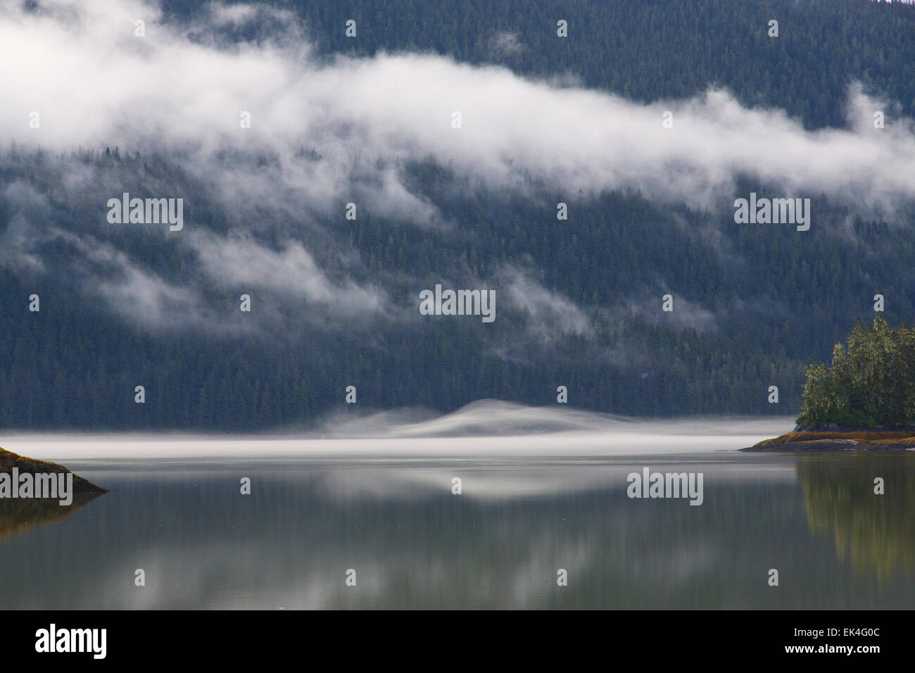 Berg-Bay, Tongass National Forest, Alaska. Stockbild