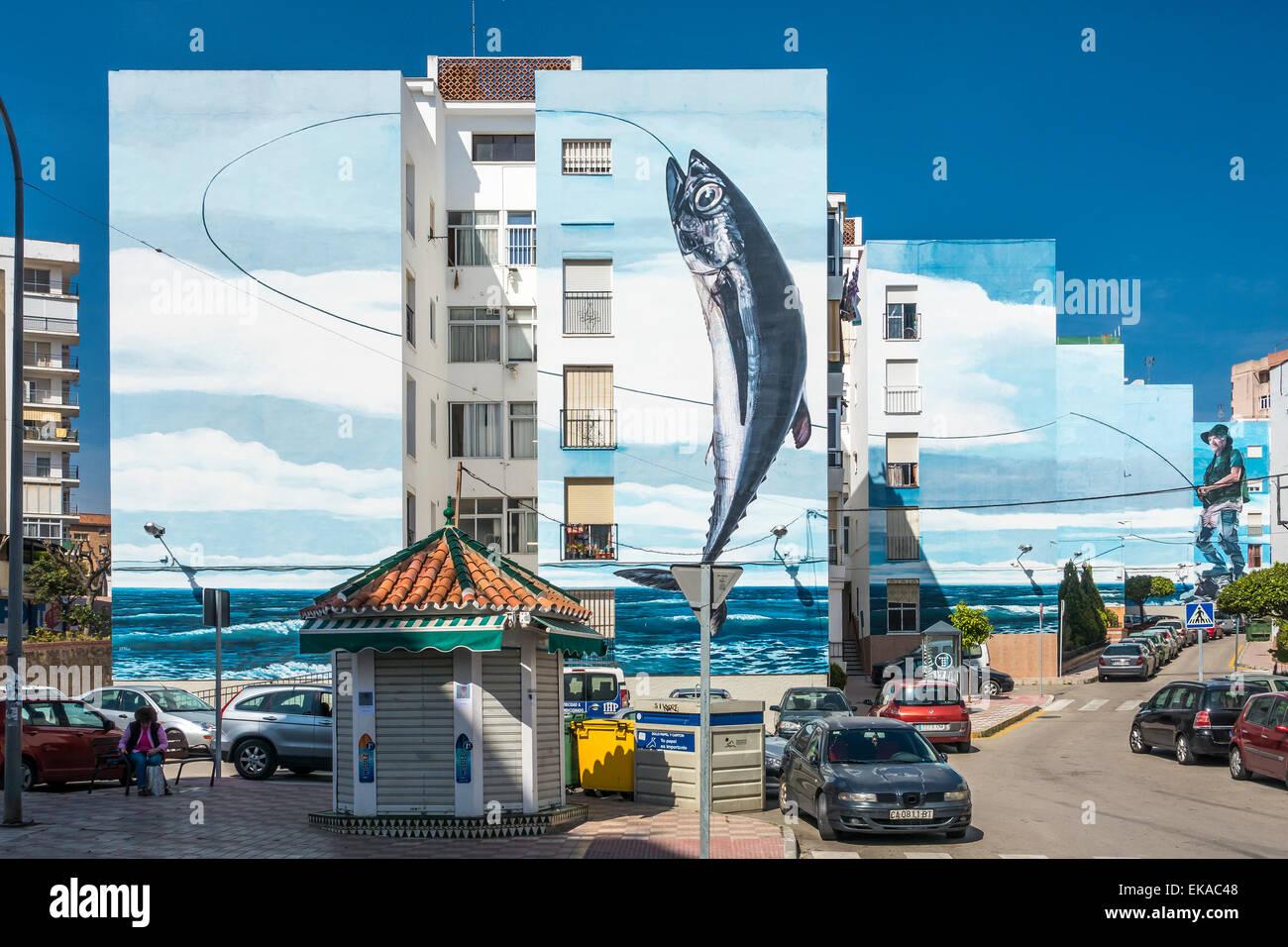 Wandbild Dia de Pesca von Jose Fernandez Rios Estepona Spanien Stockbild