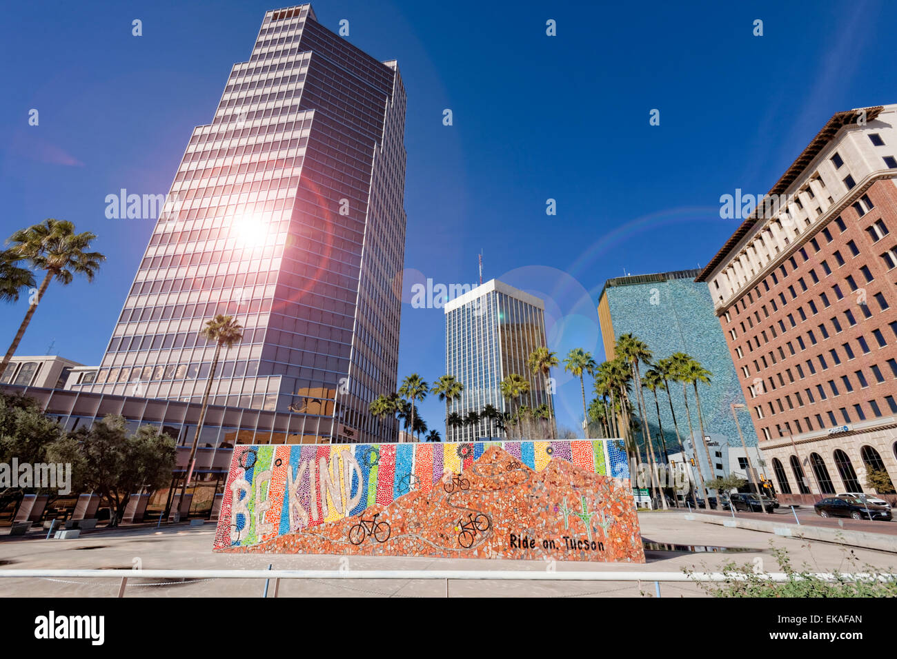 Tall Buildings von Tucson Stockbild