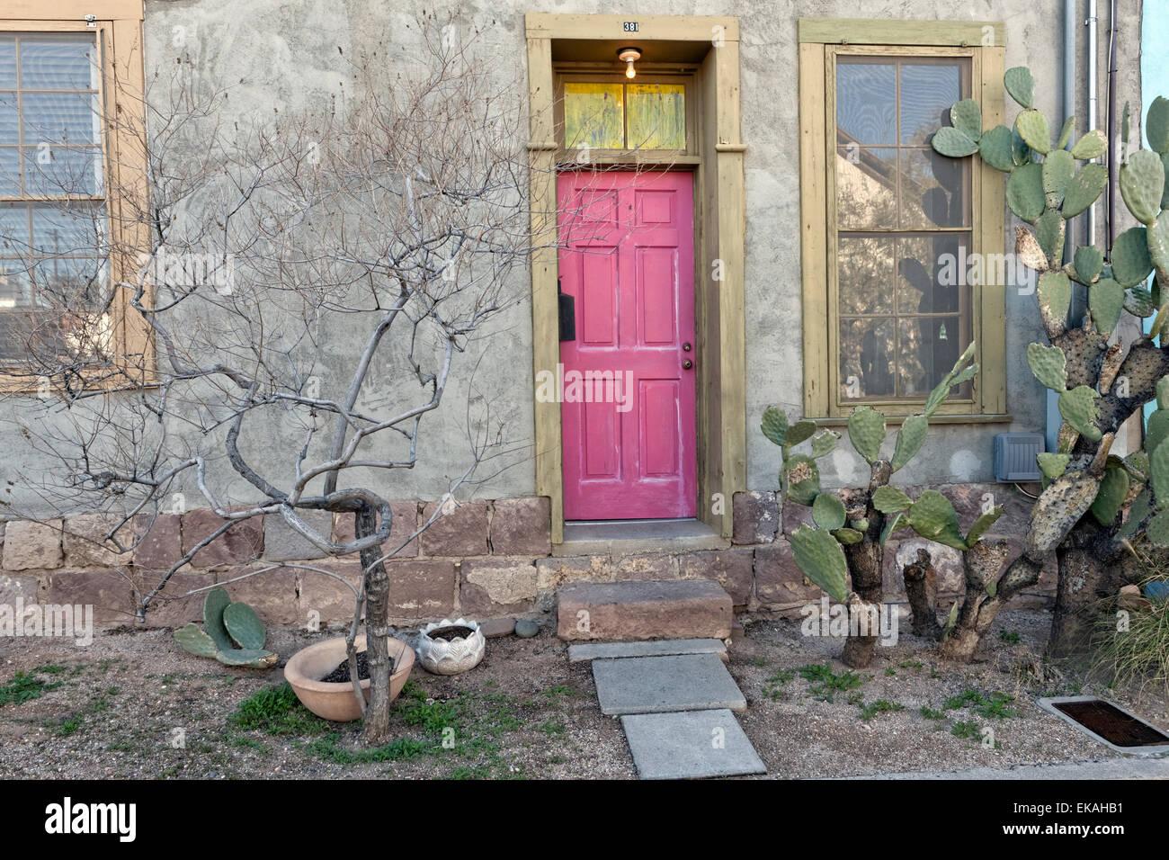 Tucson-Haus Eingang Stockbild