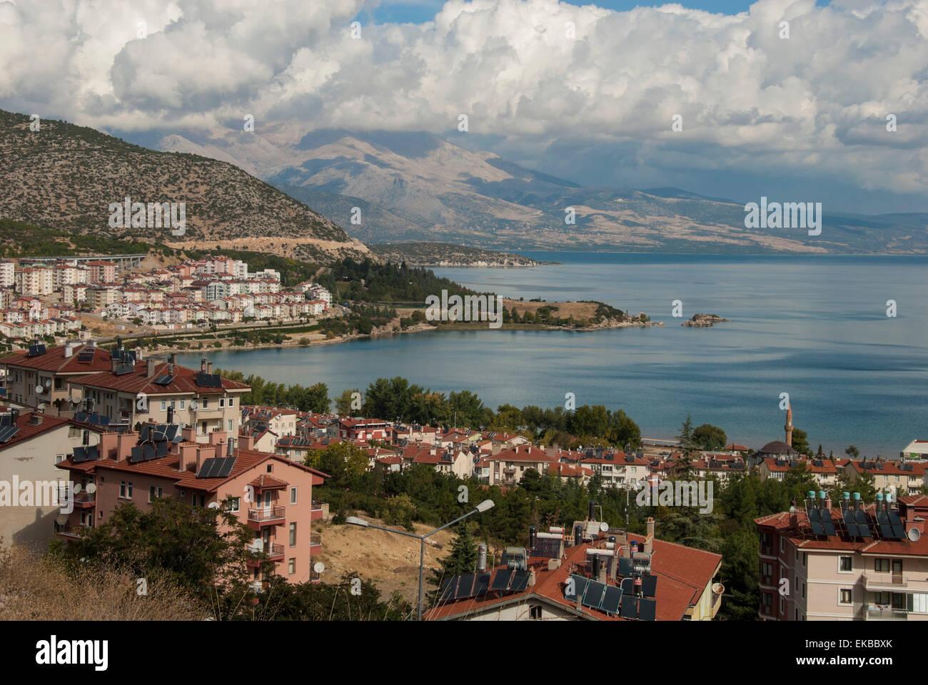 Egirdir See, Isparta, westliche Türkei, Anatolien, Türkei, Kleinasien, Eurasien Stockbild