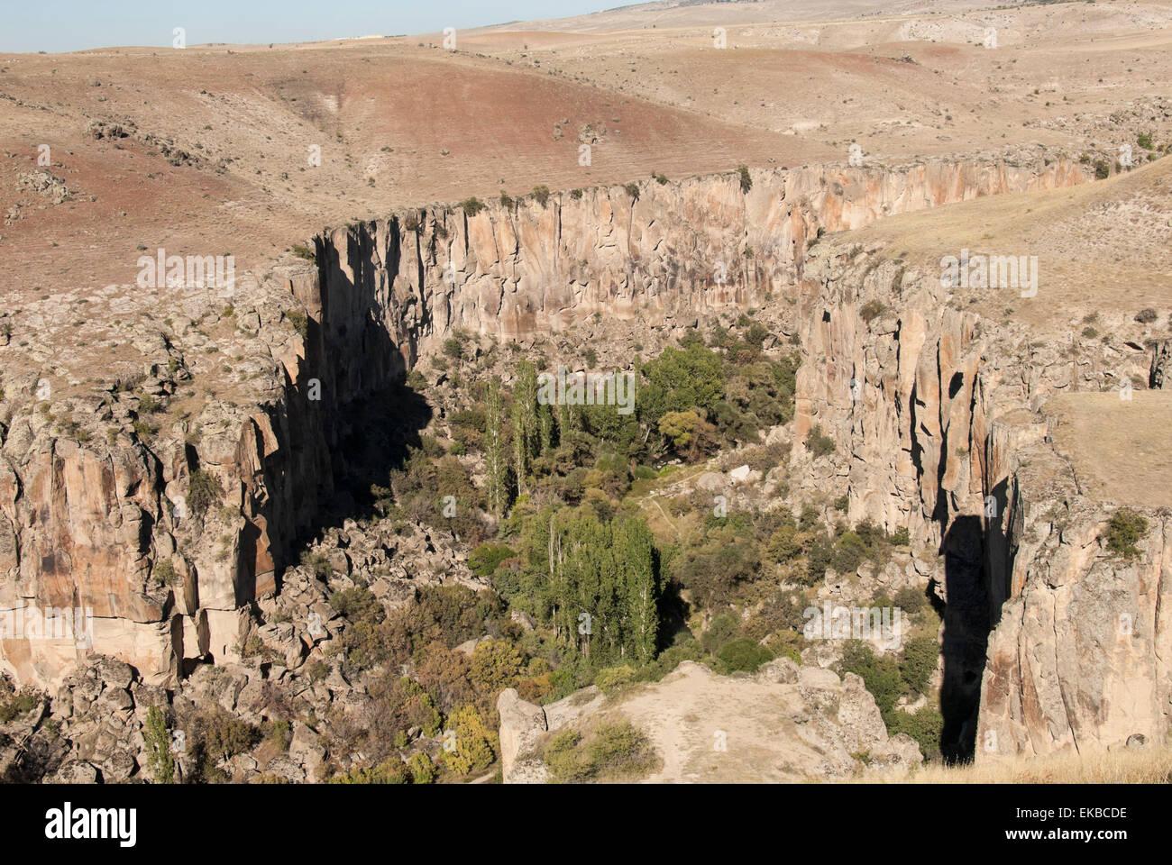 Ihlara Schlucht, westlichen Kappadokien, Anatolien, Türkei, Kleinasien, Eurasien Stockbild